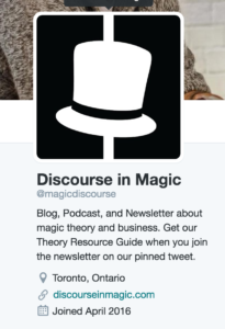 Discourse in Magic Twitter Social Media Guide Example