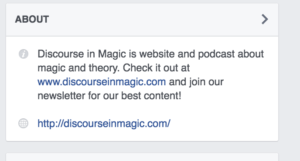 Discourse in Magic Facebook Social Media Guide Example