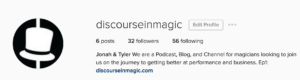 Discourse in Magic instagram Social Media Guide Example